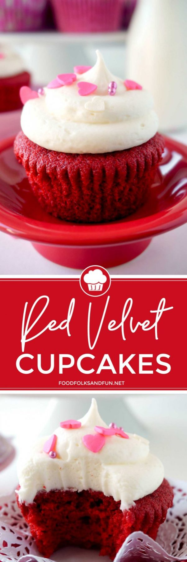 Red Velvet Cupcake recipe for Valentine's Day