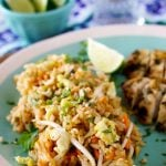 Pad Thaid recipe made in fried rice.