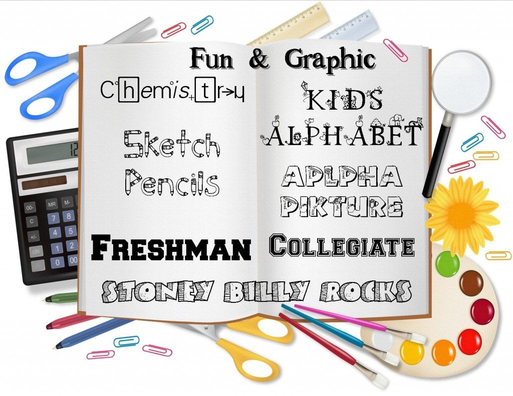 clip art for fun and graphic back to school fonts