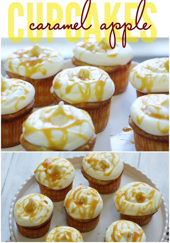 These Caramel Apple Cupcakes are completely homemade and well worth the effort. They're the perfect Fall dessert, bake sale item, and Thanksgiving Dessert!