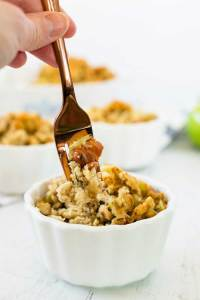 Forkful of Bacon Apple Stuffing