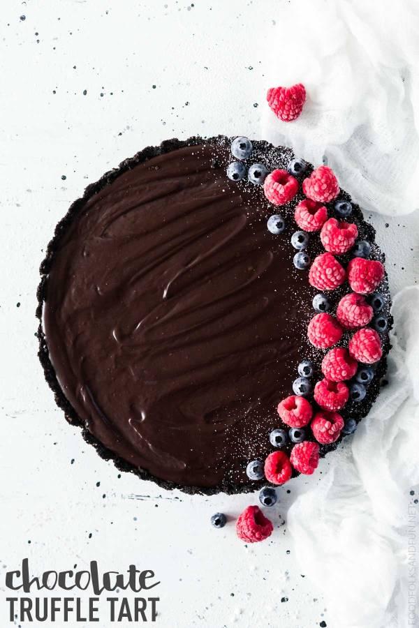 Quick and Easy Chocolate Truffle Tart