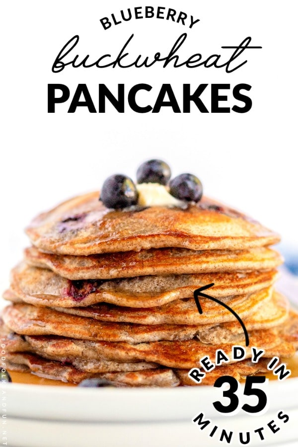 Blueberry Buckwheat Pancakes Food Folks And Fun