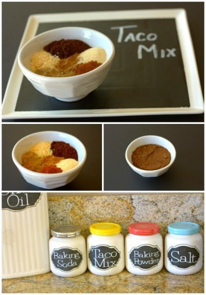 This homemade Taco Mix recipe is an economical version of the pantry staple. It's so easy to make and tastes better than store-bought mixes. #homemade #easyrecipe #TacoSeasoning #SeasoningBlend #foodfolksandfun via @foodfolksandfun