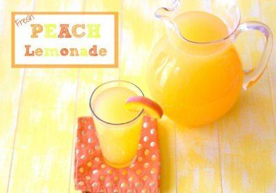 Fresh Peach Lemonade