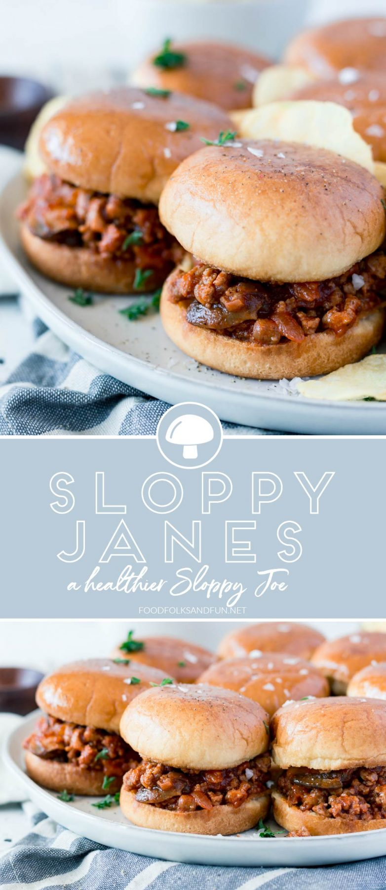 Let me introduce you to Sloppy Joe's leaner, healthier & sassier sister, Sloppy Jane. This recipe is quick and easy to make and it tastes fantastic! This Sloppy Jane recipe is low on fat and high on flavor with loads of veggies and lean ground turkey. via @foodfolksandfun