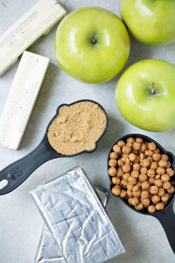 Caramel Apple Cheesecake Bars ingredients