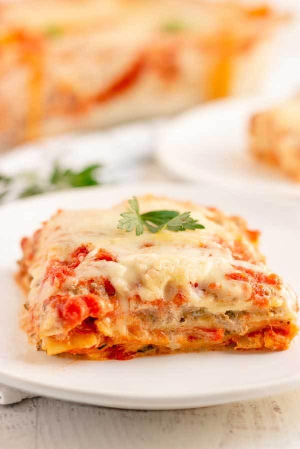 Lasagna with Italian Sausage