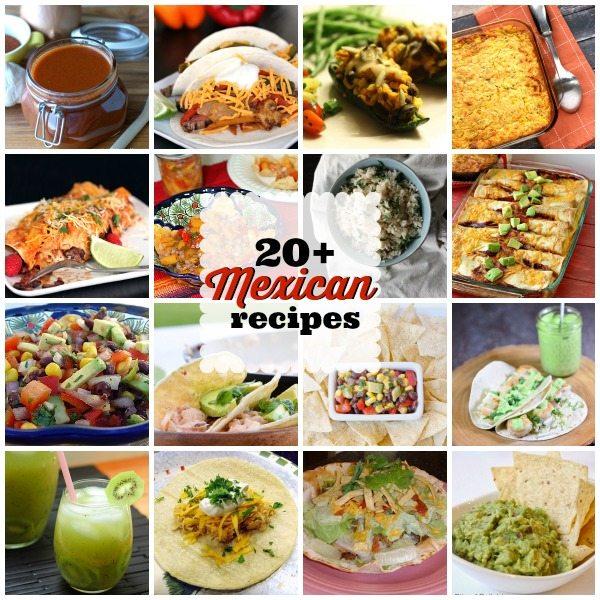 Mexican Recipe collage