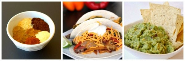 Two tacos on a plate with text overlay for Pinterest