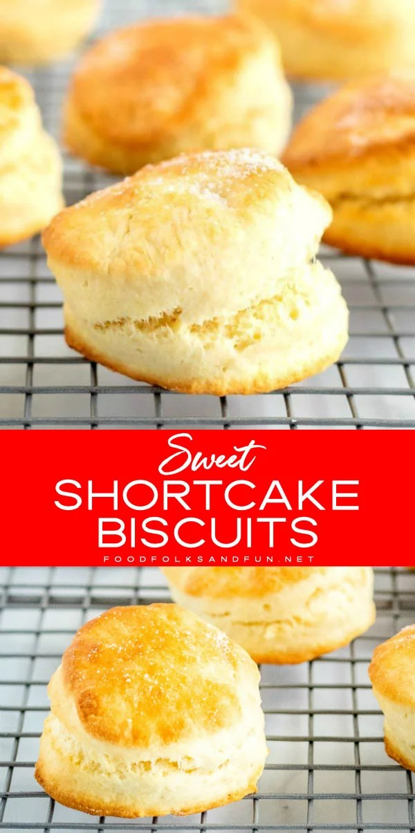 Picture collage of shortcake biscuits.