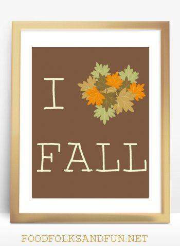 I love Fall free printable