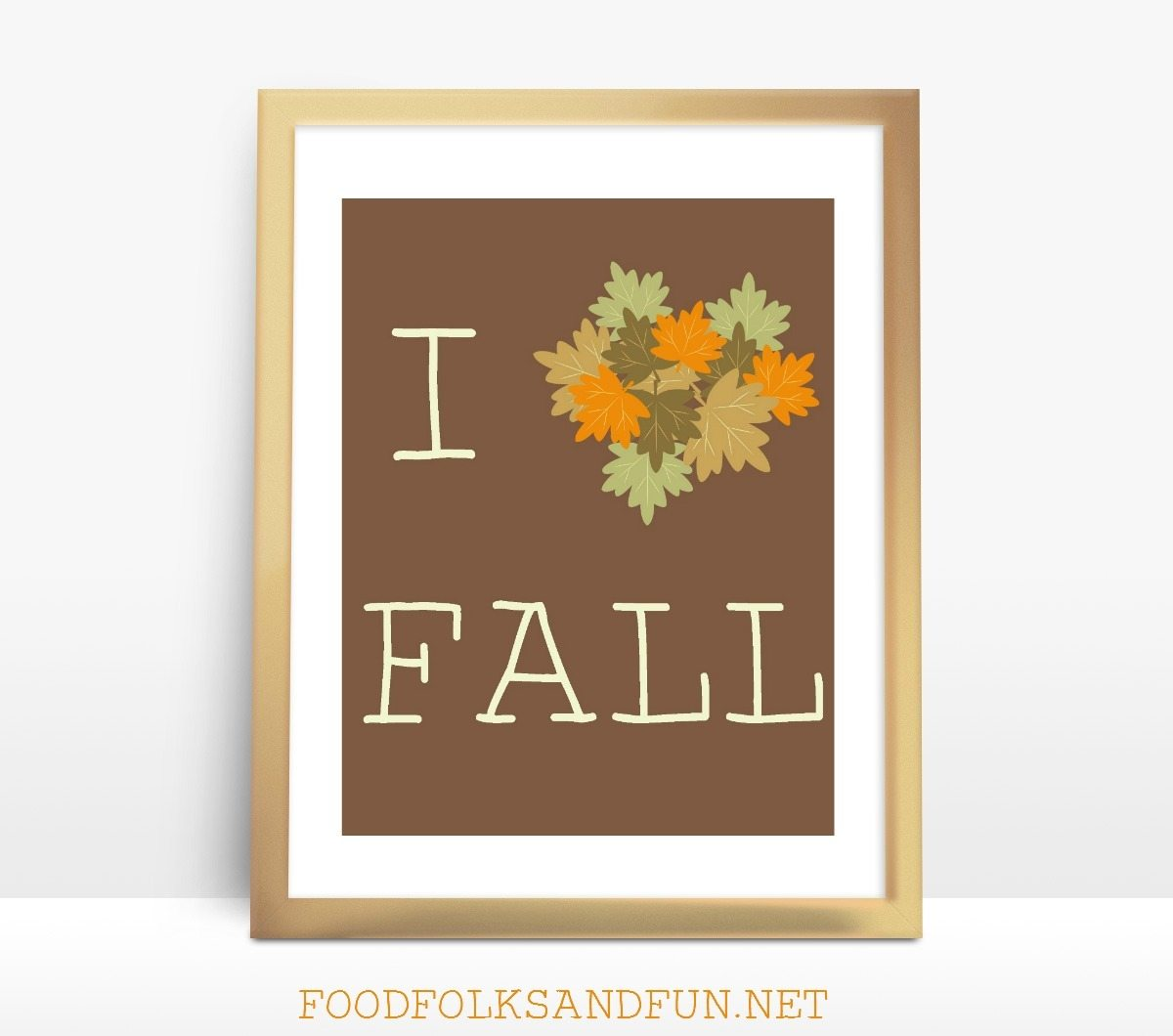 I love Fall free printable