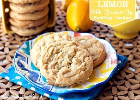 Lemon White Chocolate Pudding Cookies