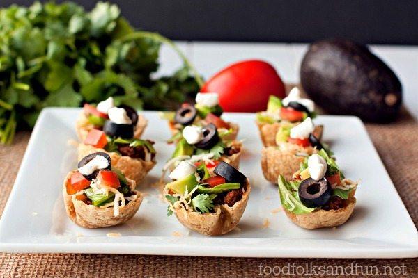 Taco Salad Mini Bites