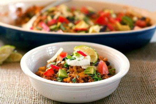 30-Minute Quinoa Taco Casserole