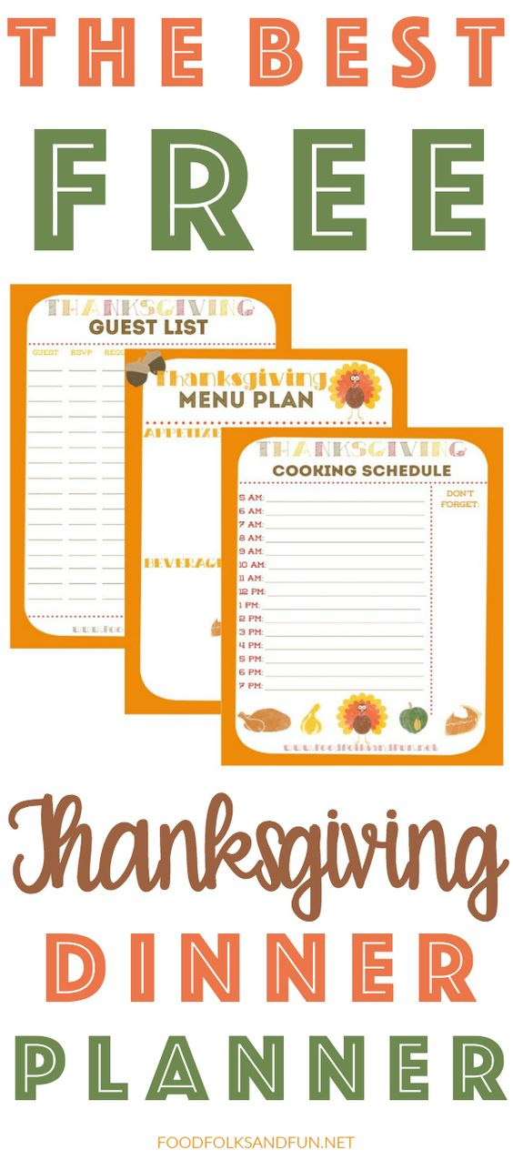The Best Thanksgiving Planner EVER!