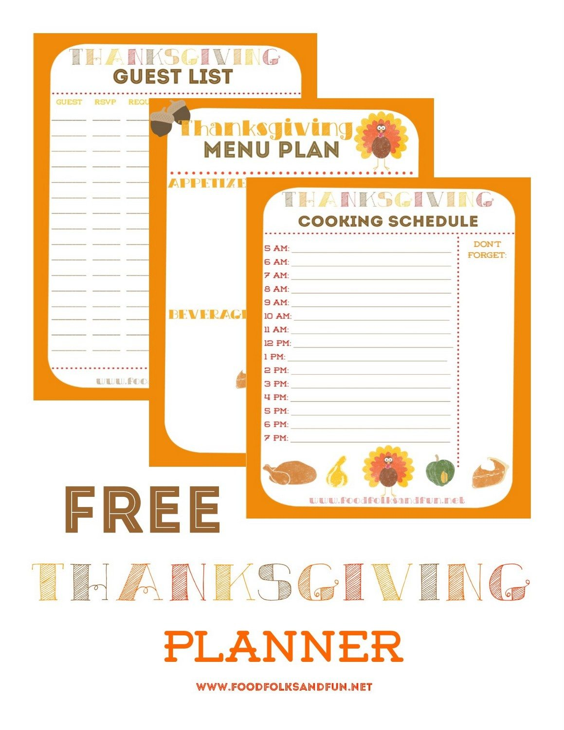 Free Thanksgiving Planner image with text overlay