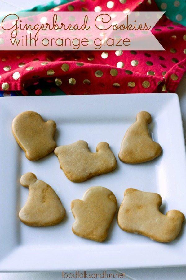 Gingerbread Cookies with Orange Glaze 4