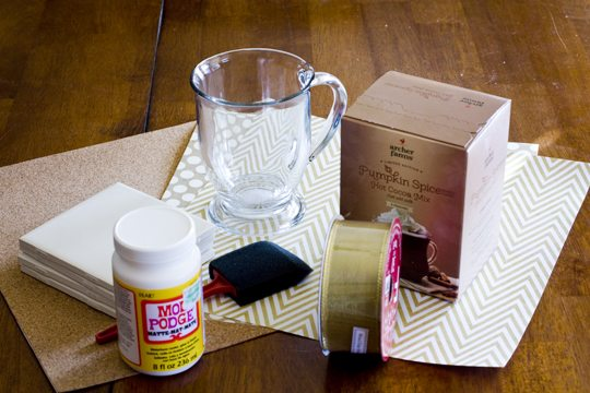 DIY Coasters Gift Set Materials