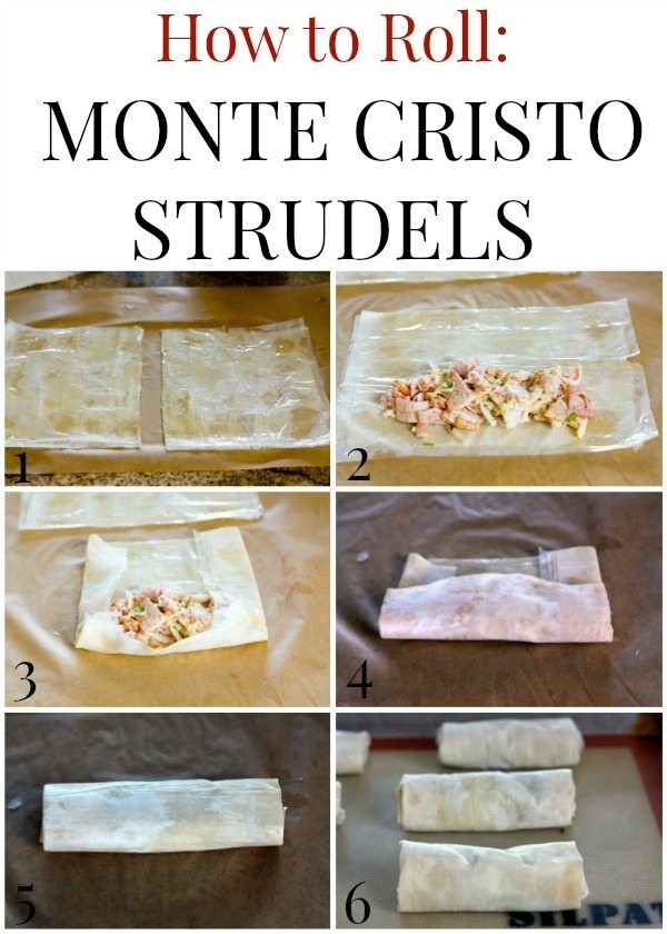 How to Roll Monte Cristo Strudels