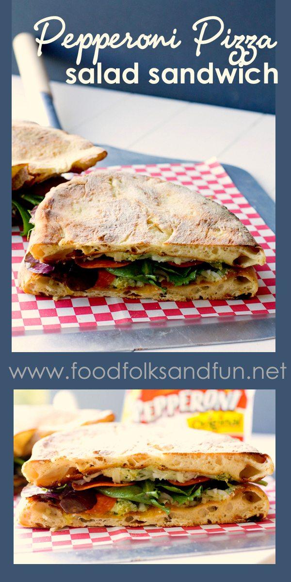 Pepperoni Pizza Salad Sandwich 1