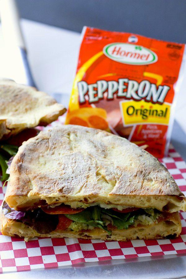 Pepperoni Pizza Salad Sandwich 3