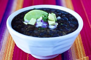 Black Bean Soup in a small bowl