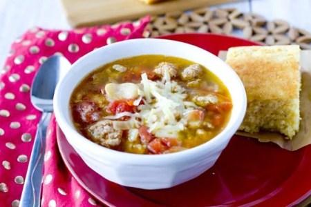 Sausage & Butter Bean Soup 30 minute recipe 1