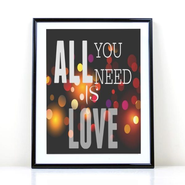 All You Need is LOVE free printable
