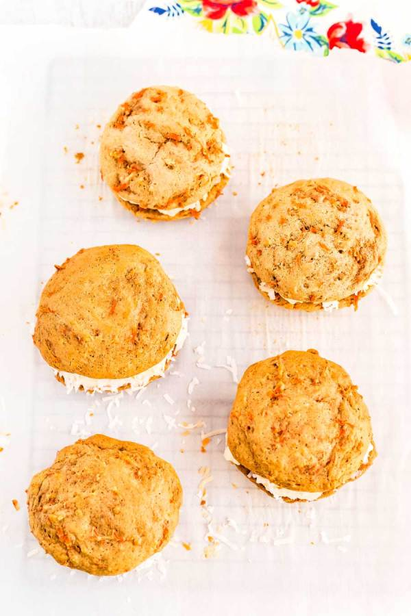 Big, delicious Carrot Cake Whoopie Pies