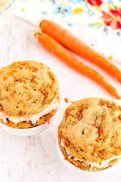 Carrot Cake Whoopie Pies are the best Spring dessert.