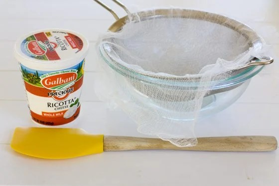 How to Strain Ricotta Cheese with Cheese Cloth