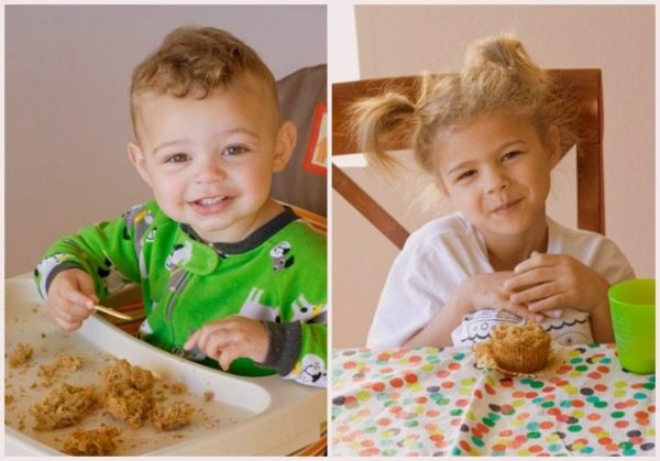 Kids love the healthy carrot cake muffins
