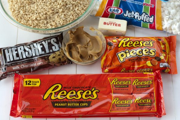 All of the ingredients needed to make these treats.