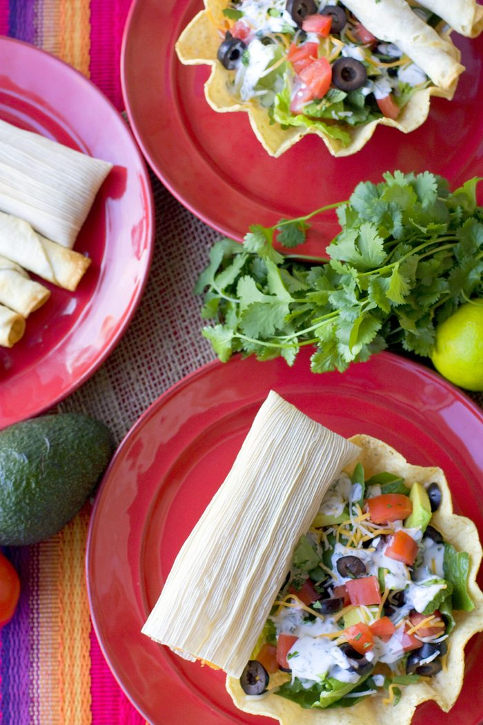 Taquito and Tamale Taco Salad Recipes