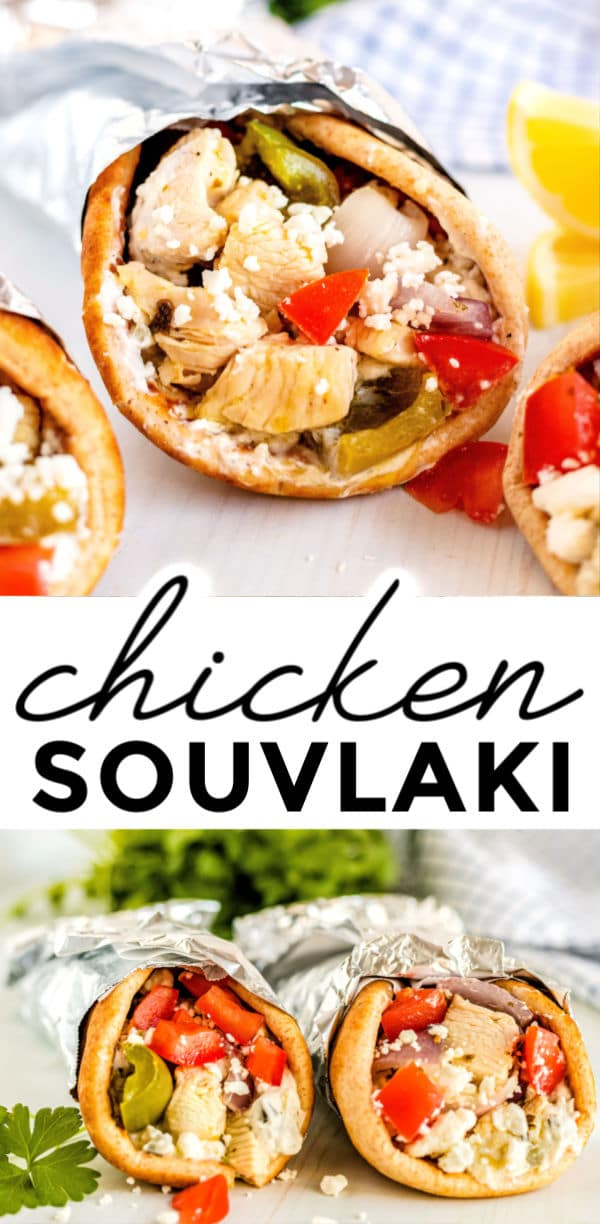 ThisStovetop Chicken Souvlaki Recipeis easy to make and takes just 40 minutes to make! The chicken is tender and it is bursting with bright, Greek flavors. via @foodfolksandfun