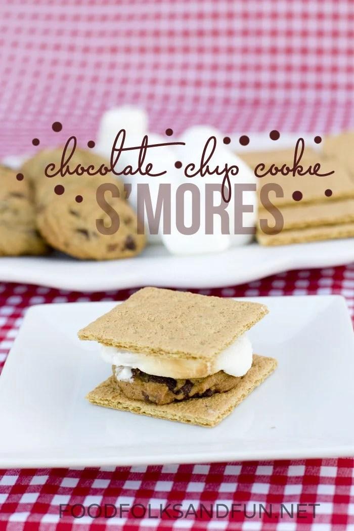 Chocolate Chip Cookie Smores Recipe