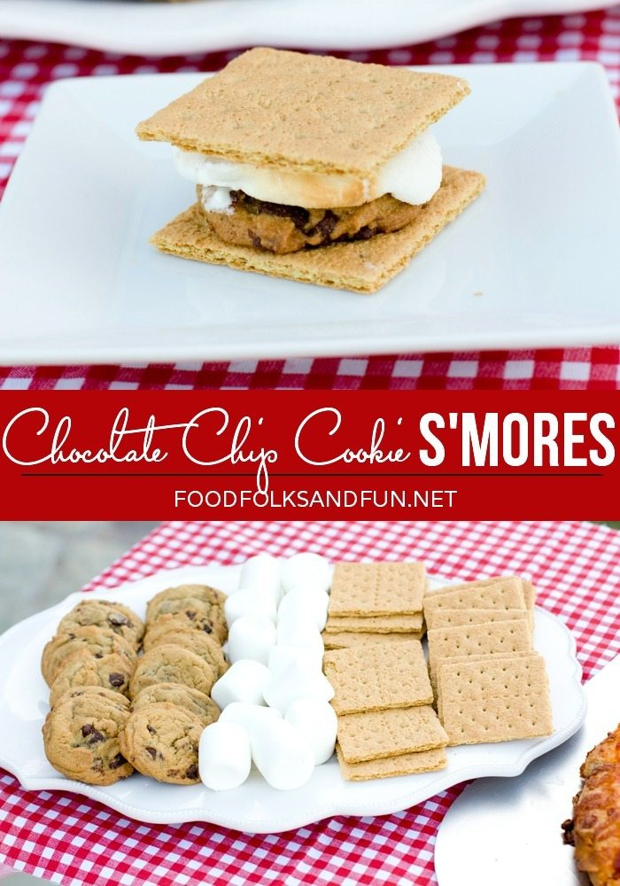 Chocolate Chip Cookie Smores