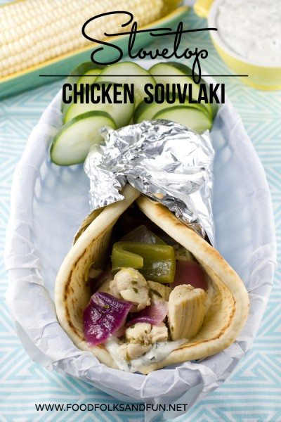 Close up picture of Stovetop Chicken Souvlaki
