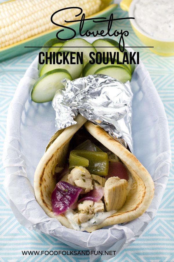 Stovetop Chicken Souvlaki Recipe
