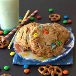 If you love cookies with M&Ms, then you MUST try my Browned Butter Pretzel M&M Cookies! {Click on the picture to be taken to the link}!