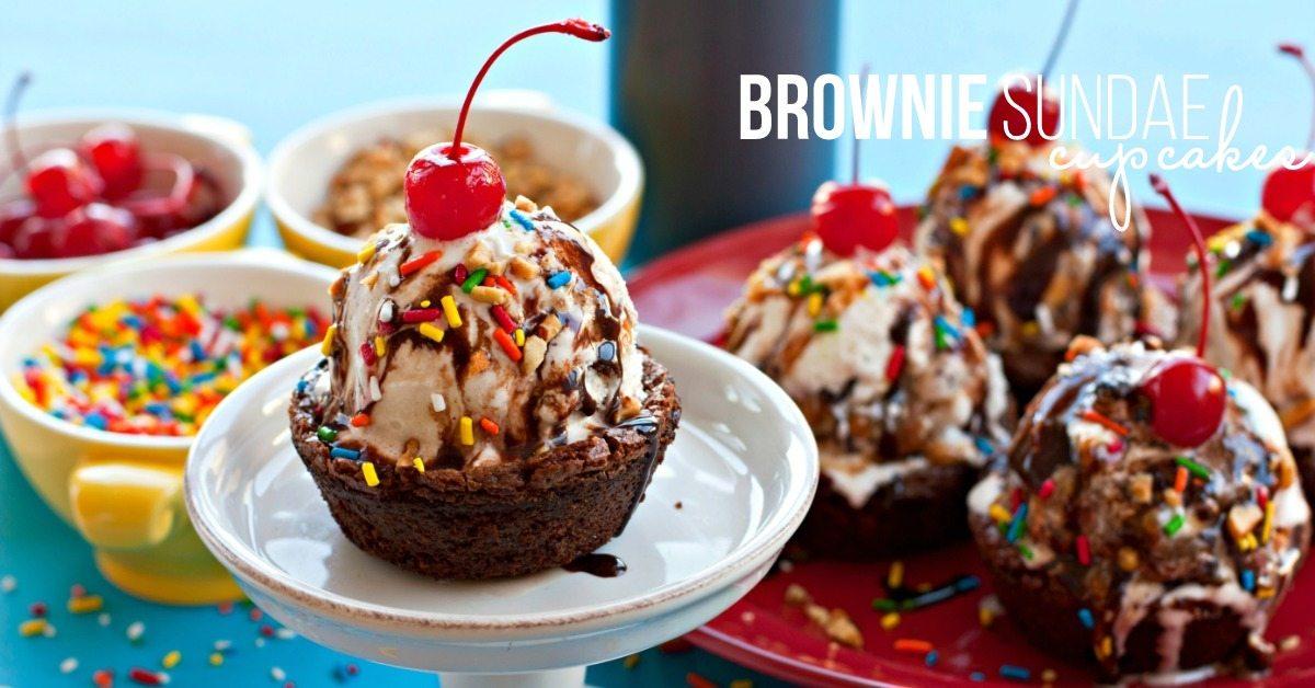 Brownie Sundae Cupcakes - FB