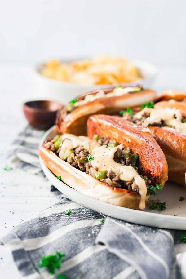 20-Minute Philly Cheesesteak Sloppy Joes recipe