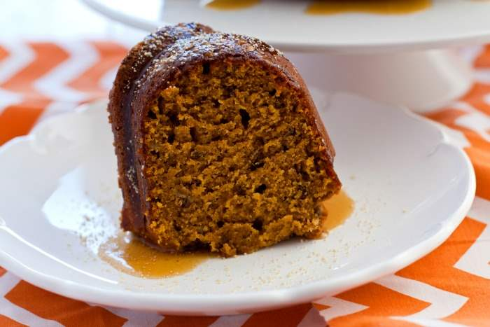 This Honey Kissed Pumpkin Cake is laced with pecans and it is sweetened with tasty honey flavor. Serve this pumpkin cake for dessert or for brunch!