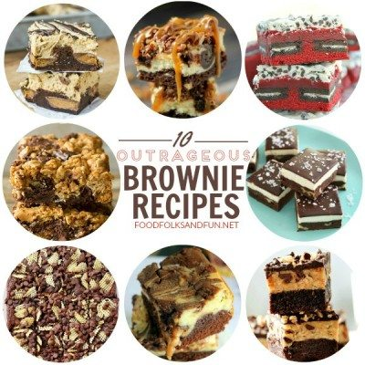 A collage of brownie recipes with text overlay for Pinterest
