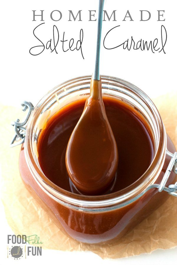 This homemade Salted Caramel sauce recipe is simple to make with these easy-to-follow instructions. This is an easy recipe that I always have in my pantry. via @foodfolksandfun