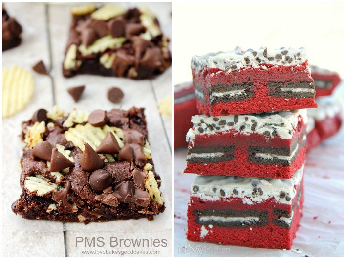 Brownie options in a collage with text overlay for Pinterst