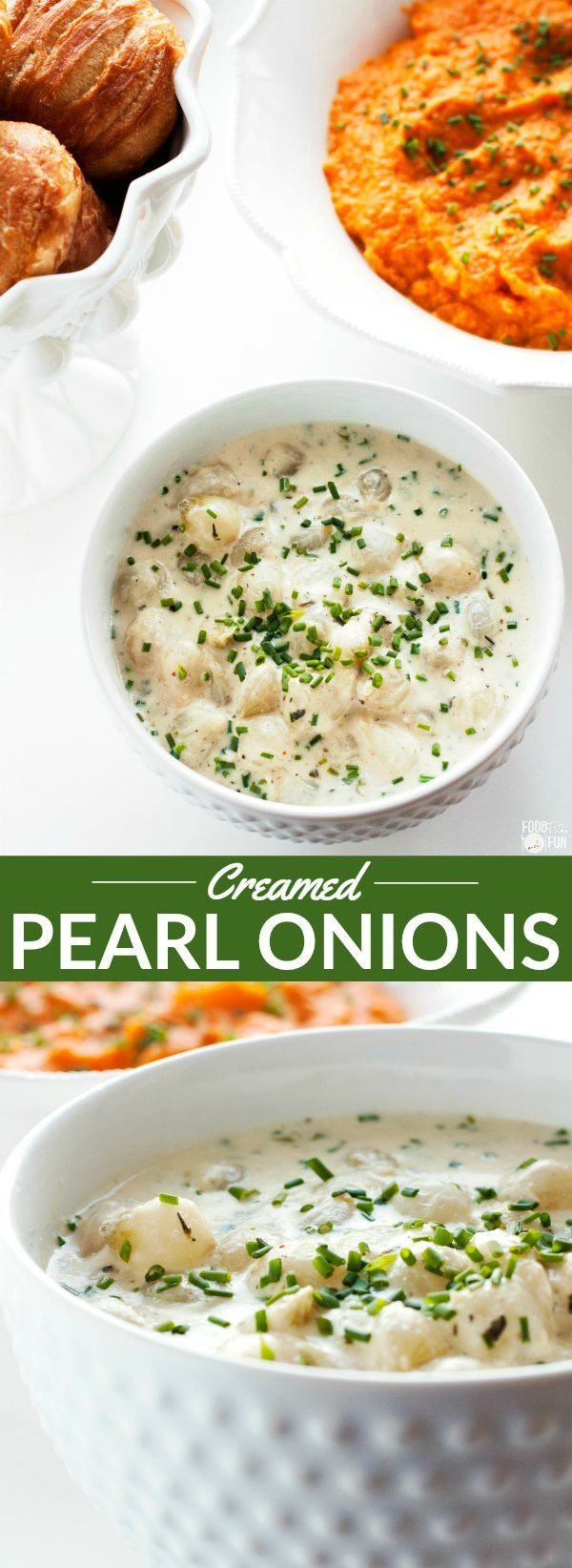 Overheard picture of creamed pearl onions.