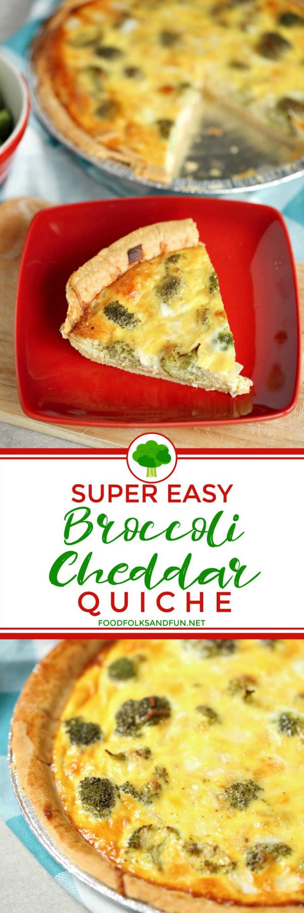Picture collage of quiche for Pinterest